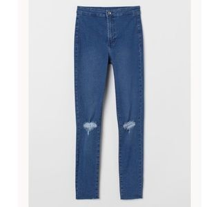 H&M Denim blue/Ripped Jeans